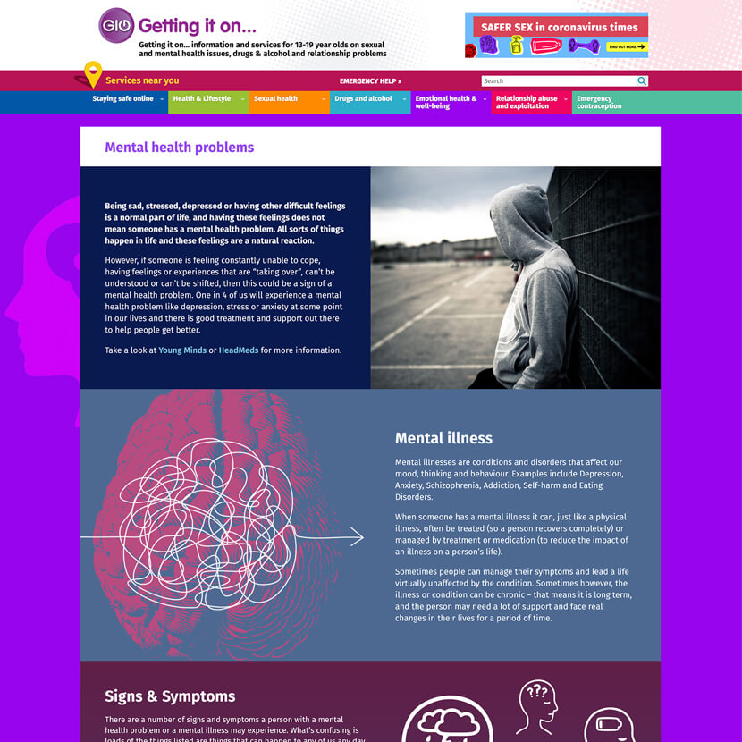 Getting it on web pages re-design